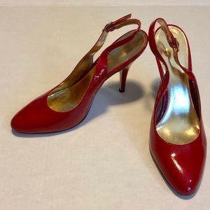 Enzo Angiolina red slingback heels 7.5
